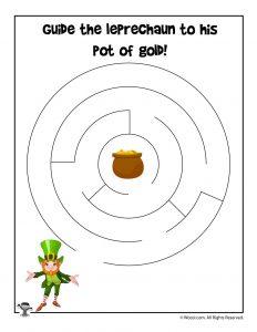 Easy St. Patrick's Day Maze
