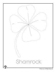 Shamrock Letter Tracing Practice