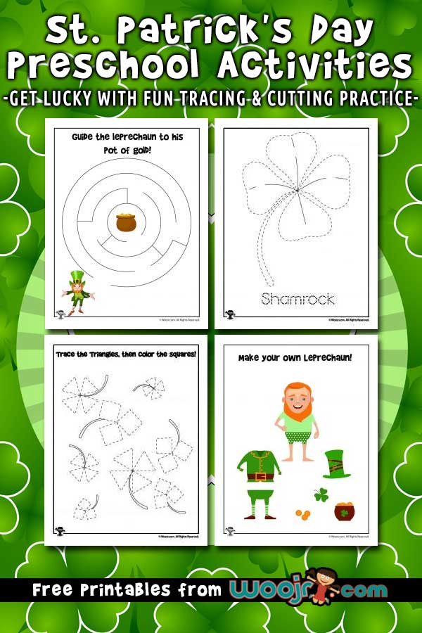 St. Patrick's Day Preschool Activity Pages