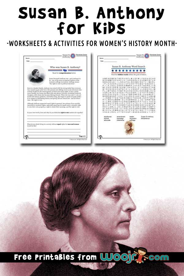 Susan B Anthony for Kids
