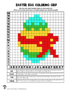 Easter Egg Coloring Grid - ANSWER KEY