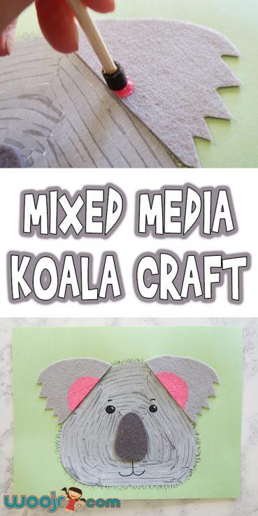 Mixed Media Koala Craft