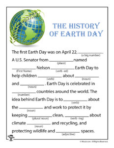 Earth Day History Ad Libs for Kids