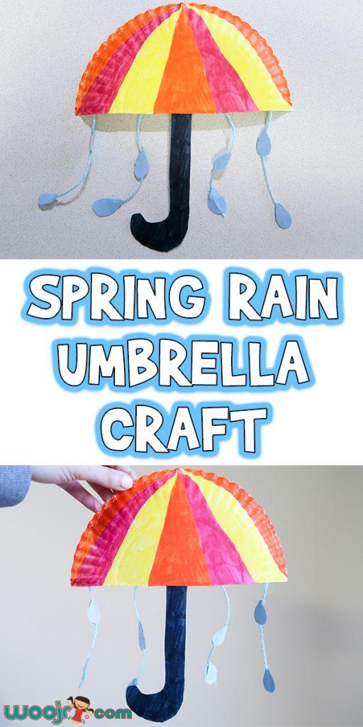 Spring Rain Umbrella Craft Woo Jr Kids Activities