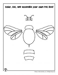 Cut and Paste the Honey Bee Craft