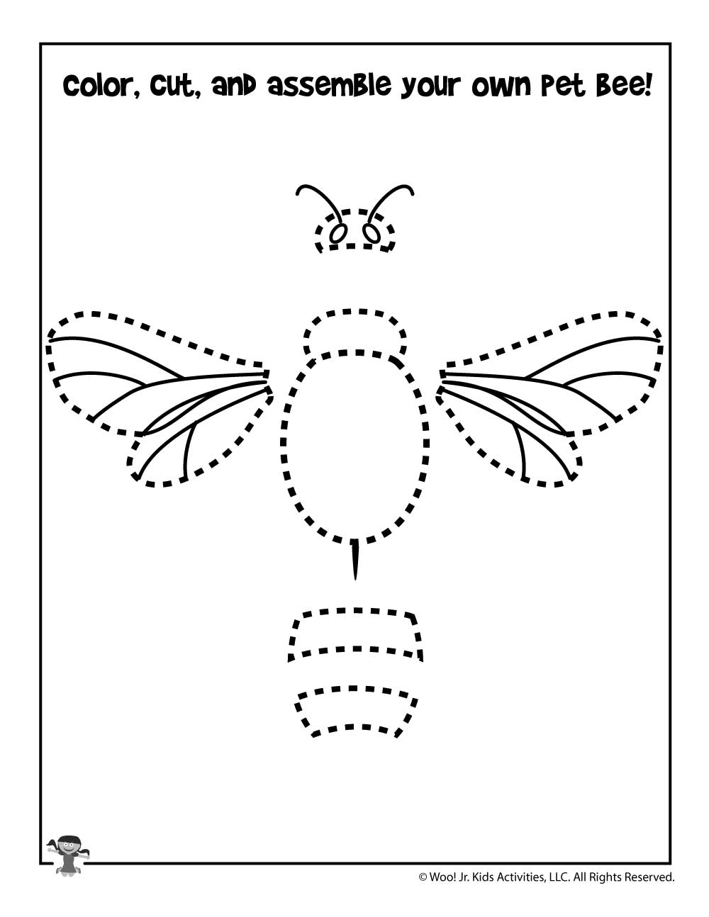 Cut and Paste the Honey Bee   Woo! Jr. Kids Activities
