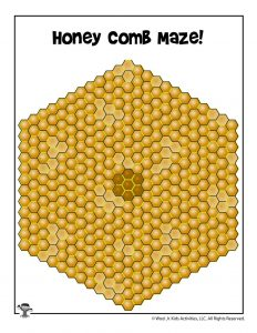 Bee Hive Hexagon Maze Game