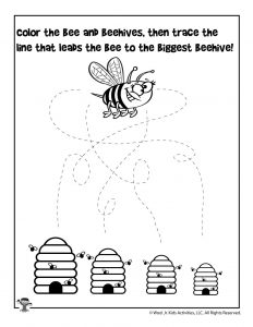 Preschool Honey Bee Activity Sheet