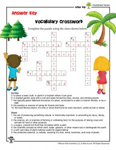 Arbor Day for Kids Crossword - ANSWER KEY