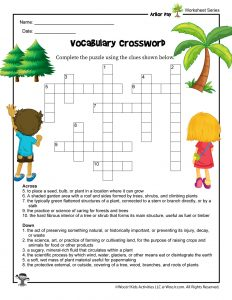 Arbor Day for Kids Crossword