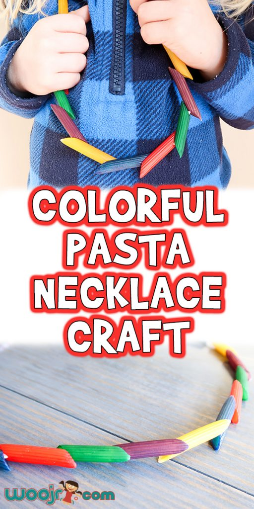 Colorful Pasta Necklace Craft