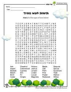 Arbor Day for Kids Word Search