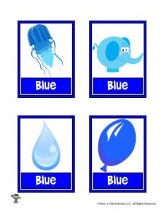 Blue Color Flashcard