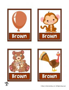Brown Color Flashcard
