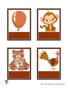 Printable Brown Color Flashcard No Words
