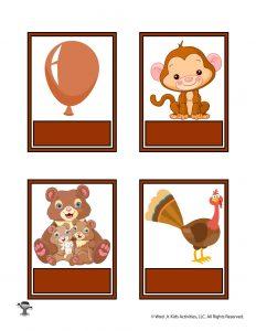Printable Brown Color Flashcard No Words