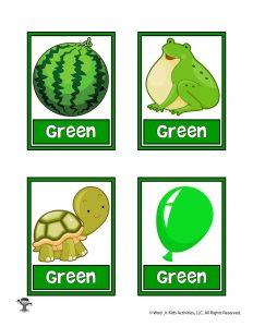 Green Color Flashcard