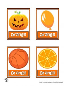 Orange Color Flashcard