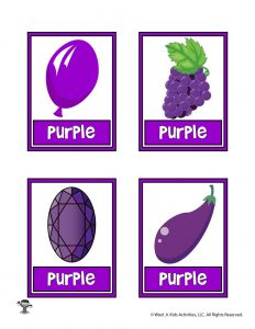 Purple Color Flashcard