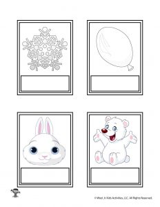 Printable White Color Flashcard No Words