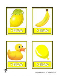 Yellow Color Flashcard