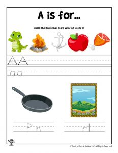 Letter A Phonics Recognition Worksheet