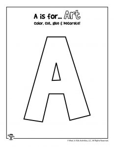 A is for Art Coloring Craft Activity