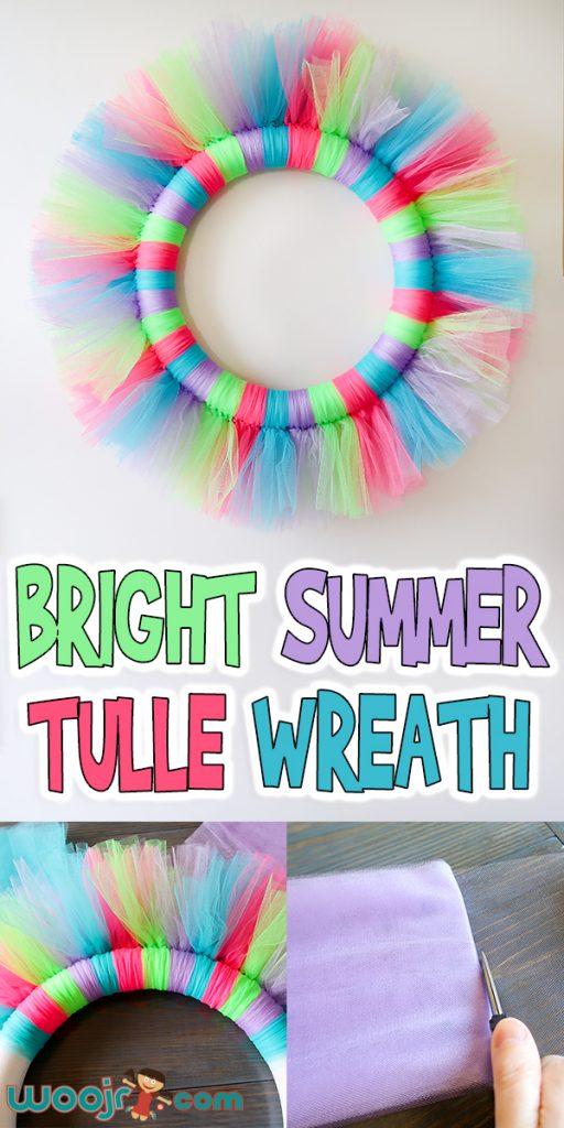 Bright Summer Tulle Wreath