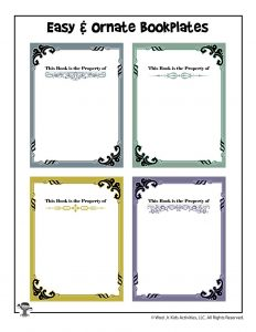 Printable Book Nameplates