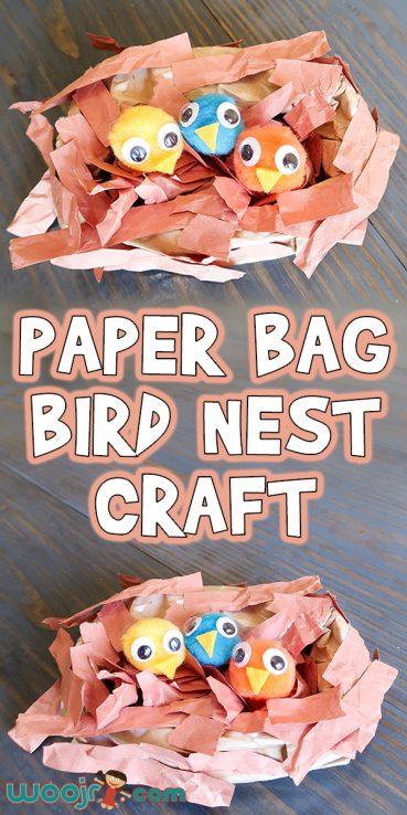 Easy Paper Bag Bird Nest Craft