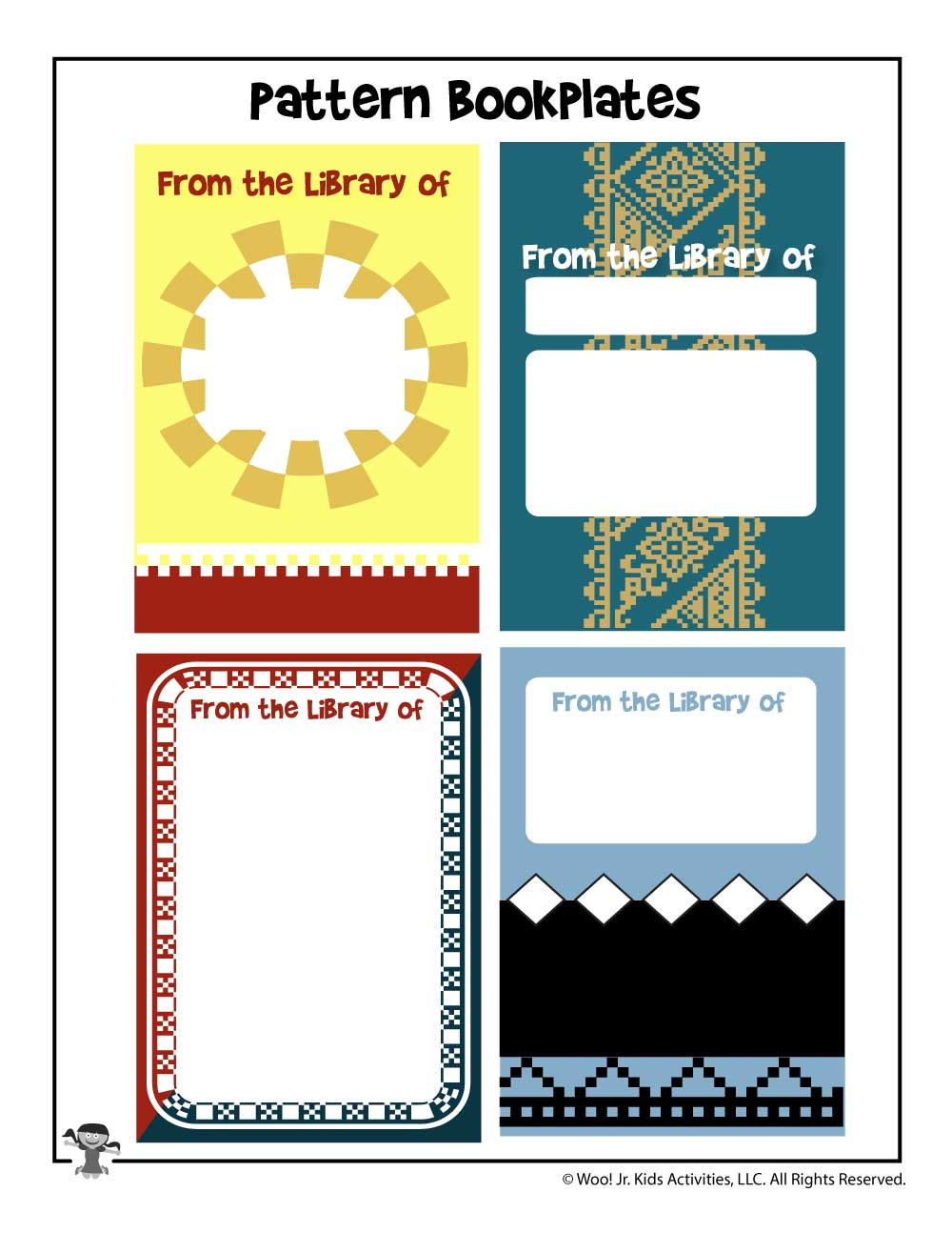 photograph relating to Printable Bookplates identify Conventional Printable Bookplates Woo! Jr. Children Functions