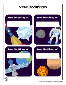 Outer Space Bookplate Printables