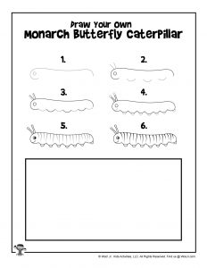 How to Draw a Monarch Caterpillar