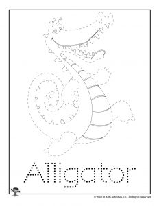 A is for Alligator Word Tracing