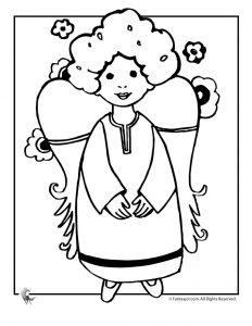 A is for Angel Coloring Page