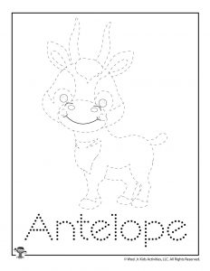 A is for Antelope Word Tracing
