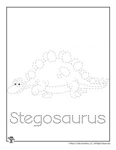Stegosaurus Trace the Lines Worksheet