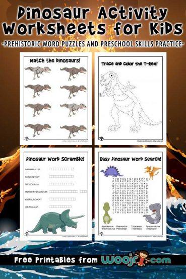 Dinosaur Activity Worksheets for Kids