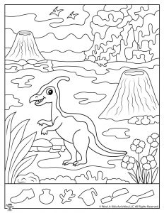 Parasaurolophus Dinosaur Hidden Pictures Printable
