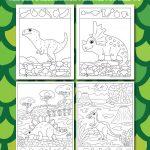 Dinosaur Hidden Pictures Activity Printables