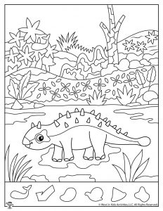 Ankylosaurus Hidden Objects Activity Page