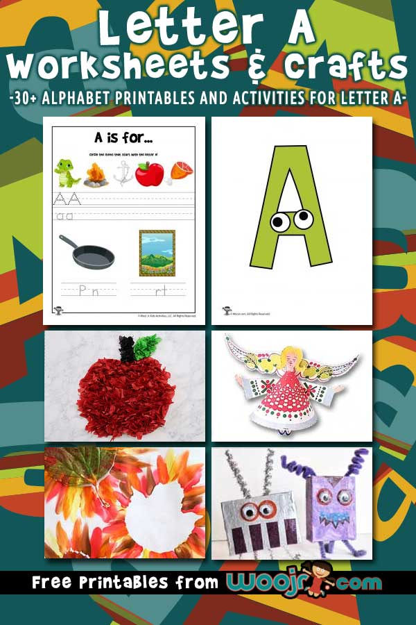 Letter A Worksheets and Crafts
