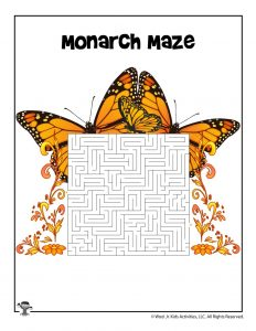 Monarch Butterfly Maze
