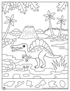 Spinosaurus Dinosaur Activity Sheet