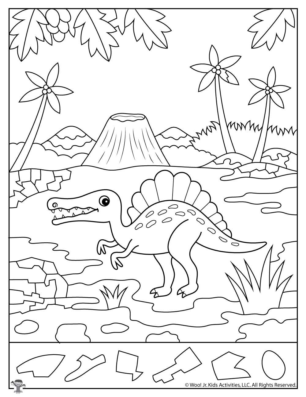 Spinosaurus Dinosaur Activity Sheet Woo Jr Kids Activities