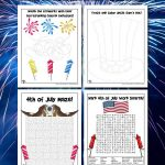 4th of July Activity Pages for Kids