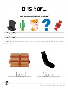 Letter C Phonics Recognition Worksheet
