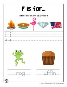 Letter F Phonics Recognition Worksheet