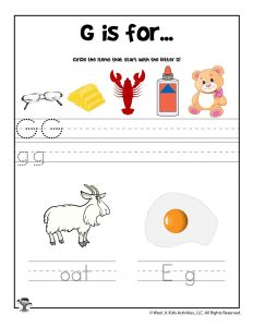 Letter D Phonics Recognition Worksheet