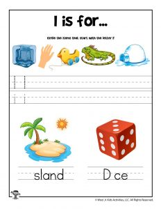 Letter I Phonics Recognition Worksheet